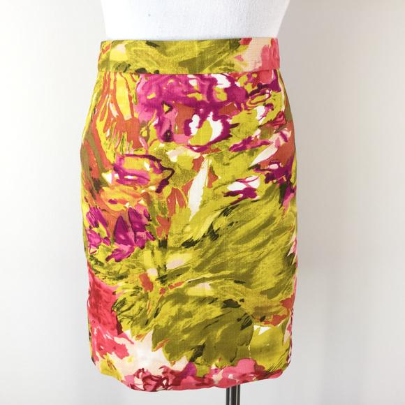 J. Crew Dresses & Skirts - J Crew 0 XS Pink Mustard yellow Pencil Skirt